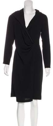 Max Mara Hooded Wrap Dress