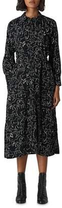 Whistles Stallion-Print Shirt Dress