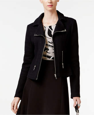 Alfani Textured Knit Moto Jacket, Only at Macy's $109.50 thestylecure.com