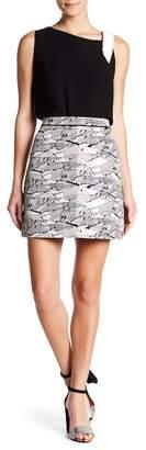 Ted Baker Landscape Jacquard Print Mini Skirt