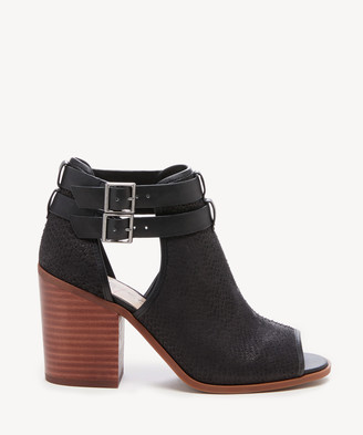 Sole Society Women's Carisse Block Heels Sandals Black Size 5 Suede From