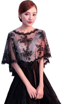 Huifany Bridal Shawls Wrap Lace Applique Scarf Capes for Wedding Dresses