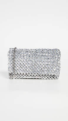 Loeffler Randall Mini Beaded Clutch with Chain Strap