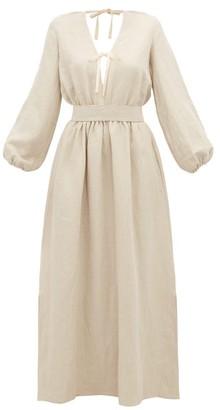 BEIGE White Story - Greta Linen Maxi Dress - Womens