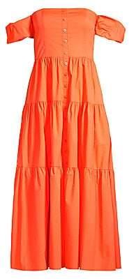 STAUD Women's Elio Puff Sleeve Prairie Dress
