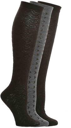 Nine West Textured Knee Socks - 3 Pack - Women's