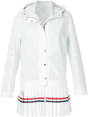 Thom Browne pleated hooded jacket