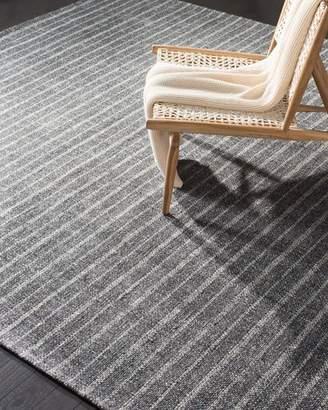 Lauren Ralph Lauren Miles Charcoal Stripe Flat Weave Rug, 9' x 12'