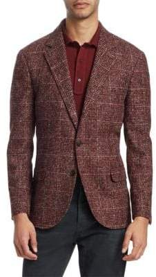Brunello Cucinelli Glen Windowpane Sportcoat