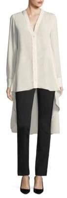 Donna Karan Seamed Hi-Lo Button-Down Shirt