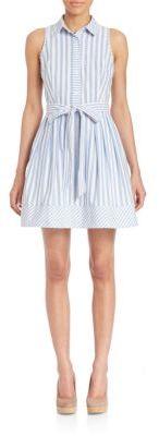 MILLY Breton Striped Shirt Dress $385 thestylecure.com