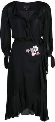 Cynthia Rowley Genevieve ruffle wrap dress