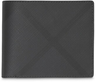 Burberry Check Bifold Wallet with ID Card Case