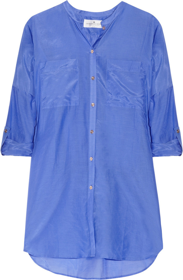 Designers Remix Air cotton and silk-blend shirt
