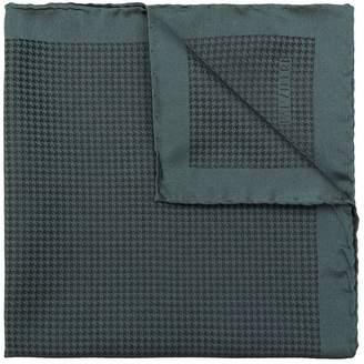 Pal Zileri houndstooth printed handkerchief