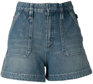 Chloé A-line denim mini shorts