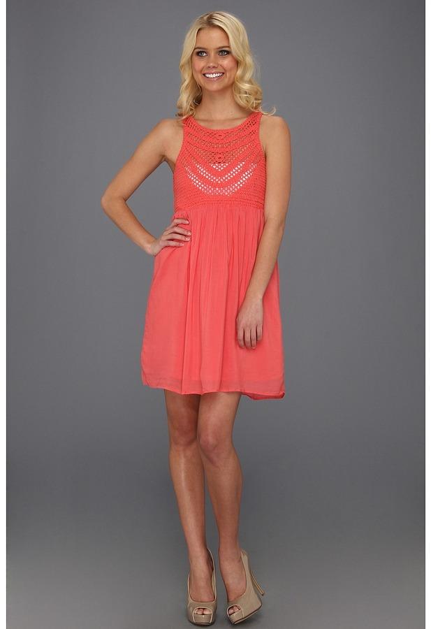 Gabriella Rocha Lacie Crochet Dress (Coral) - Apparel