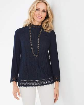 Chico's Lace-Front Top