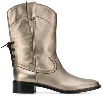 ace3cadcc08d See by Chloe cowboy inspired mid calf boots