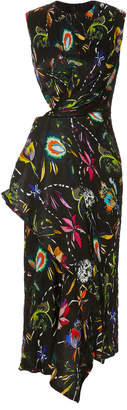 Jason Wu Floral Crinkle Day Dress