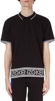 Kenzo Logo-Hem Polo Shirt w/Contrast Tipping