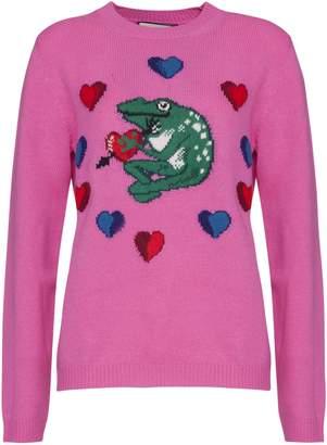 Gucci Logo Inlaid Sweater In Pink
