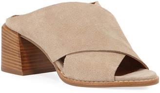 Aquatalia Janna Crisscross Suede Sandals