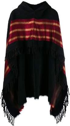 UMA WANG hooded poncho