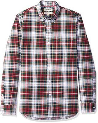 Goodthreads Men's Slim-Fit Long-Sleeve Plaid Oxford Shirt