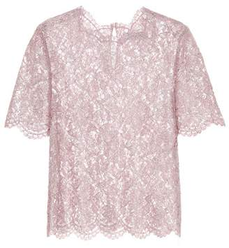 Valentino Metallic lace top