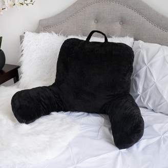 Sweet Home Collection Sweet Home Micro Plush Back Support w/ Arms Bed Rest Pillow Lounger Cushion