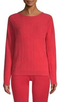 St. John Cashmere Wool-Blend Rib-Knit Sweater