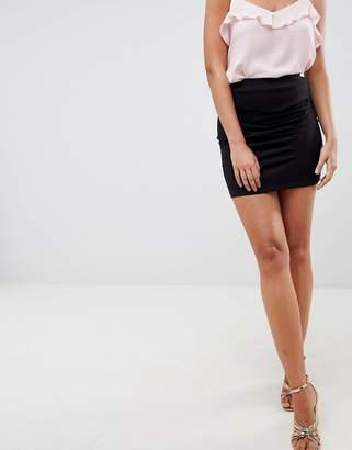 Asos Design DESIGN bodycon mini skirt with ruched seam detail