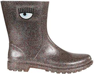 Chiara Ferragni Glittered Coating Eye Boots