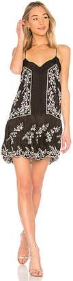Juliet Dunn Embroidered Slip Dress