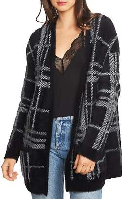 1 STATE 1.STATE Long Cozy Plaid Cardigan