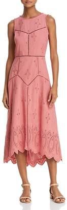 Joie Halone Eyelet Midi Dress