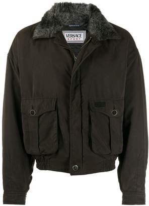 Versace Pre-Owned 1980s cargo pockets bomber jacket