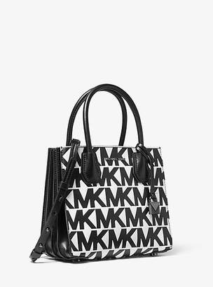 Michael Kors Mercer Medium Logo-Embossed Leather Accordion Crossbody Bag
