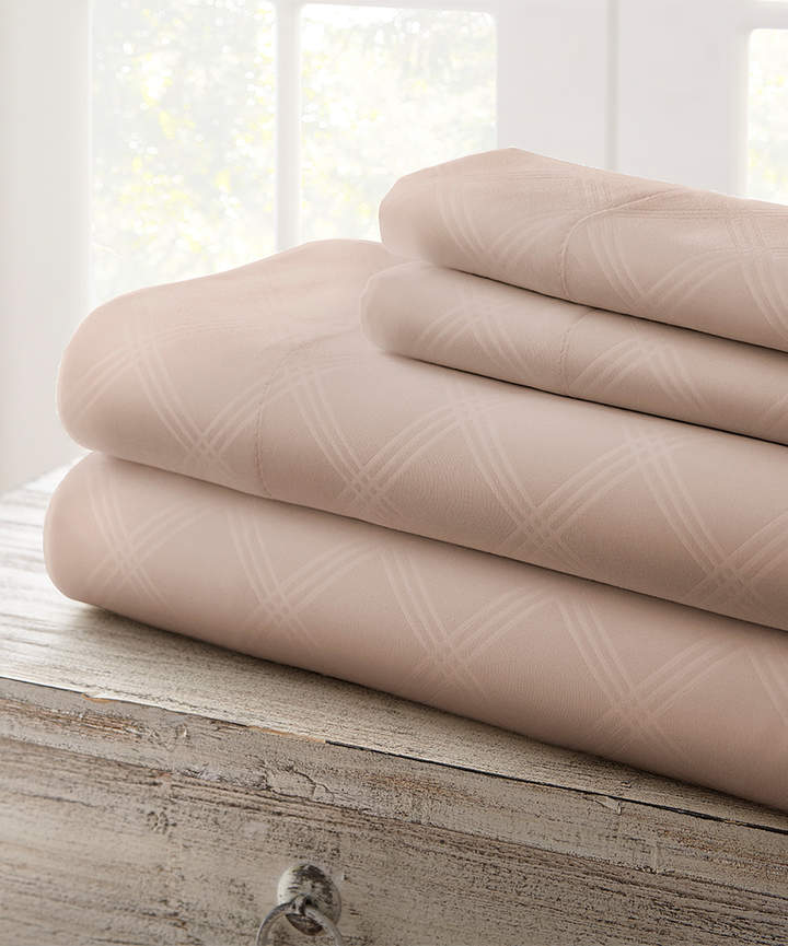 Taupe Cabana Plaid Embossed Sheet Set