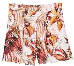 MANGO Tropical print shorts