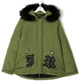 John Richmond Junior TEEN hooded parka coat