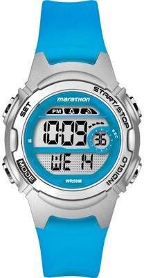 Timex Tw5K96900 Childrens Marathon Watchblue Resin Rubber Strapchronographnew