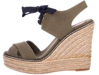 Tory Burch Slingback Espadrille Wedges