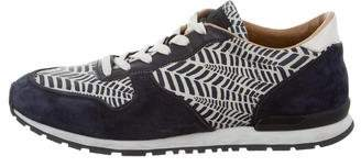 Tod's Printed Leather Sneakers