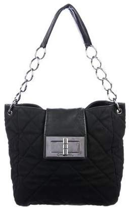 Chanel Quilted Nylon Mademoiselle Tote Black Quilted Nylon Mademoiselle Tote