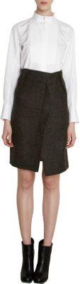 Jil Sander Asymmetric Front Vented High Waist Skirt