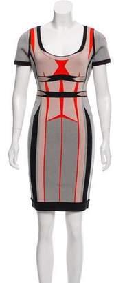 Herve Leger Gabi Jacquard Dress w/ Tags