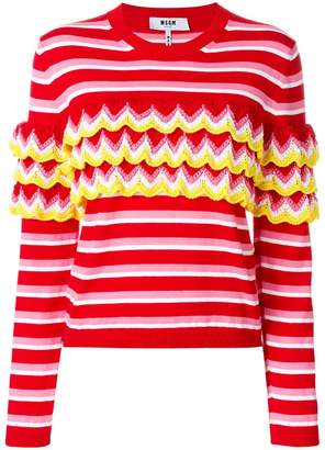 MSGM crochet striped jumper