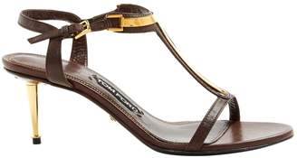 Tom Ford Brown Leather Sandals